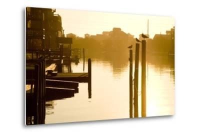 Sunrise Along the Channels Lined with Vacation Houses-Stephen St^ John-Metal Print