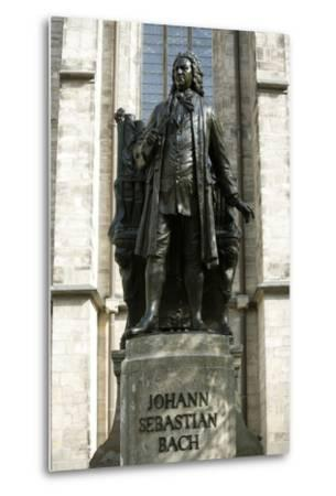 Statue of J. S. Bach on Grounds of St. Thomas Church, Leipzig, Germany-Dave Bartruff-Metal Print