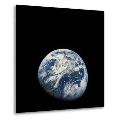 View of Earth Taken from the Aollo 8 Spacecraft-Stocktrek Images-Metal Print