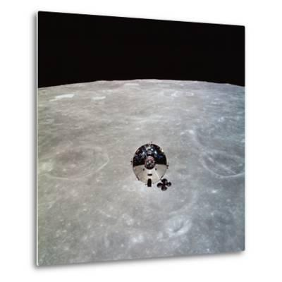 The Apollo 10 Command And Service Modules in Lunar Orbit-Stocktrek Images-Metal Print