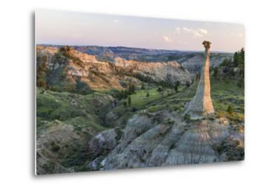 Badlands Rock Formation, Missouri River Breaks National Monument, Montana, USA-Chuck Haney-Metal Print