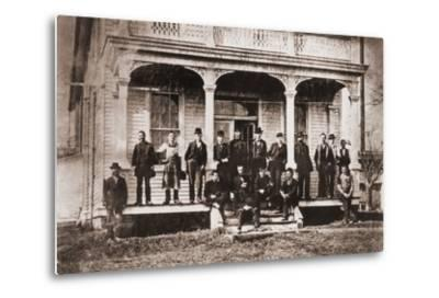 Thomas Edison with Engineers and Technicians of His Menlo Mark Workshop, 1880s--Metal Print