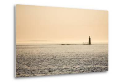 A Lighthouse Off the Shore of Cape Elizabeth, Maine-Jonathan Irish-Metal Print