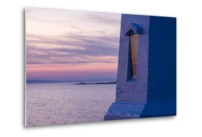 Part of Peggy's Point Lighthouse and Atlantic Ocean at Twilight-Jonathan Irish-Metal Print