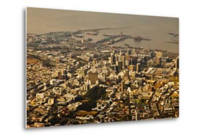 High Angle View of Cape Town-Ralph Lee Hopkins-Metal Print