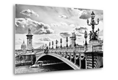 Alexander III Bridge view - Paris - France-Philippe Hugonnard-Metal Print