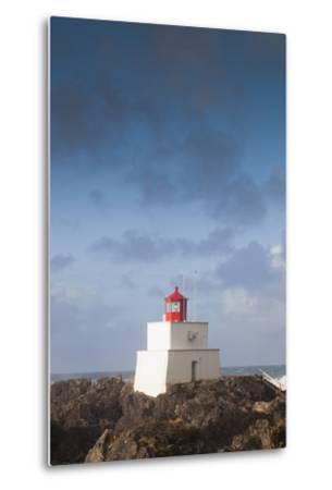 Wild Pacific Trail, Amphitrite Lighthouse, Vancouver Island, British Columbia, Canada-Walter Bibikow-Metal Print