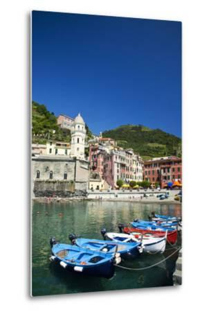 City and Church of Santa Margherita d'Antiochia of Vernazza, Italy-Terry Eggers-Metal Print