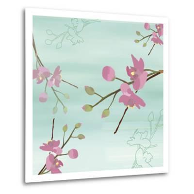 Zen Blossoms 1-Kate Knight-Metal Print