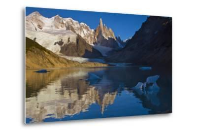 Adela and Cerro Torre Massifs Reflected in the Laguna Torre At Dawn-Beth Wald-Metal Print