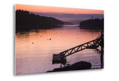 Pink and Purple Sunlight on the Water at Sunset-Jonathan Irish-Metal Print