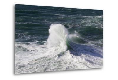 Wind Driven Ocean Waves, Cape Kiwanda, Oregon, USA-Jamie & Judy Wild-Metal Print