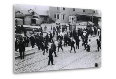 5 Strikers Were Killed by Company Guards at Standard Oil Works, Bayonne, NJ, 1915--Metal Print