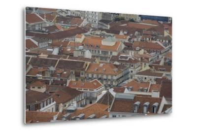 Terracotta Tile Roofs in Downtown Lisbon-Joe Petersburger-Metal Print
