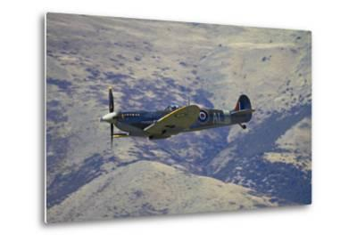 Supermarine Spitfire, British and Allied WWII War Plane, South Island, New Zealand-David Wall-Metal Print