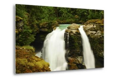 Hooksack Waterfalls, Mount Baker-Snoqualmie National Forest, Washington, USA-Michel Hersen-Metal Print
