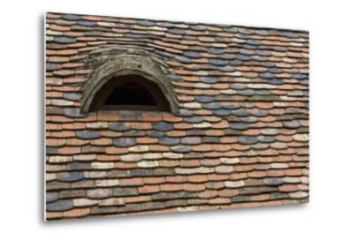 Detail of a Tile Roof with a Window in the Old Downtown-Joe Petersburger-Metal Print