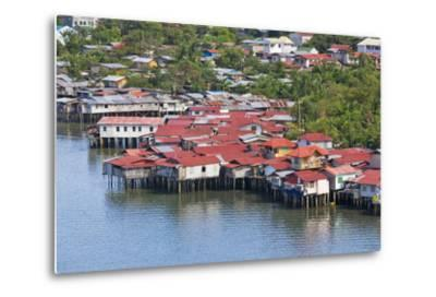 Aerial View of Houses on Stilts Along the Waterfront, Cebu City, Philippines-Keren Su-Metal Print
