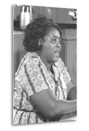 Fannie Lou Hamer, African-American Civil Rights Leader in 1964--Metal Print