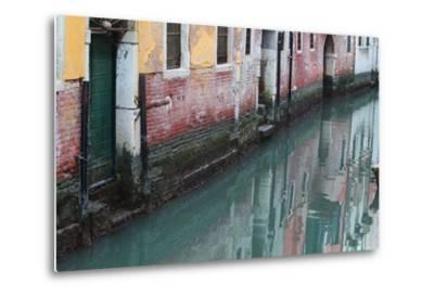 Buildings and Their Reflections in Canal Water-Joe Petersburger-Metal Print