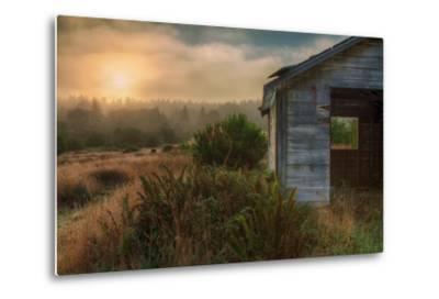 Morning Glow and Coastal Shack-Vincent James-Metal Print