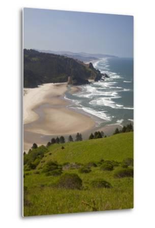 View of Beach, Cascade Head, Oregon, USA-Jamie & Judy Wild-Metal Print