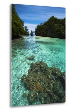 Limestone Island Formations Shaped By Wind and Water-Stephen Alvarez-Metal Print