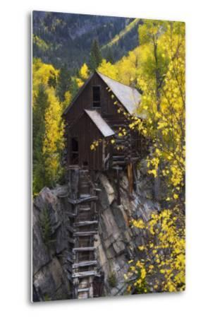 A Mill on a Rock Promontory Above the Crystal River-Robbie George-Metal Print