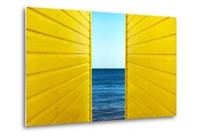 2 Yellow Beach Huts-Andy Bell-Metal Print
