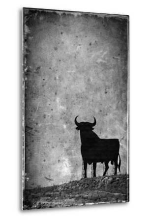 Spain, Andalucia, Jerez De la Frontera, El Cuadrejon, An Osborne Bull or Toro De Osborne-Alan Copson-Metal Print