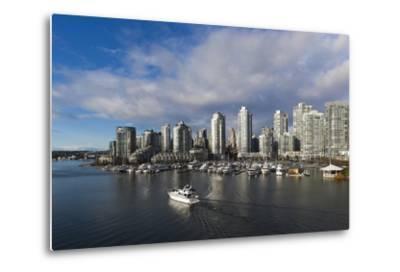 Buildings Along False Creek, Vancouver, British Columbia, Canada-Walter Bibikow-Metal Print