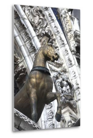Horse Statue on San Marco, Venice, Italy-Terry Eggers-Metal Print