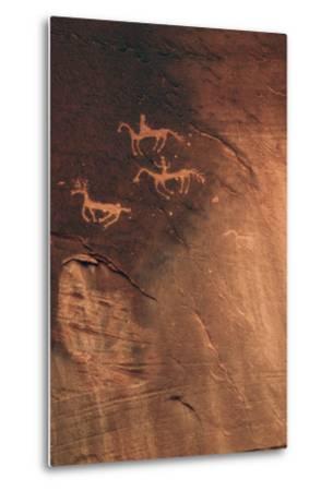 Petroglyph, Canyon De Chelly National Monument, Arizona, USA-Michel Hersen-Metal Print
