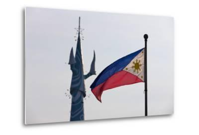 Tv Tower and National Flag, Manila, Philippines-Keren Su-Metal Print