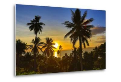 Sunset, Taveuni, Vanua Levu in Background, Fiji-Douglas Peebles-Metal Print