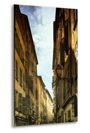 Provencal Street - French Streets - Nice - France-Philippe Hugonnard-Metal Print