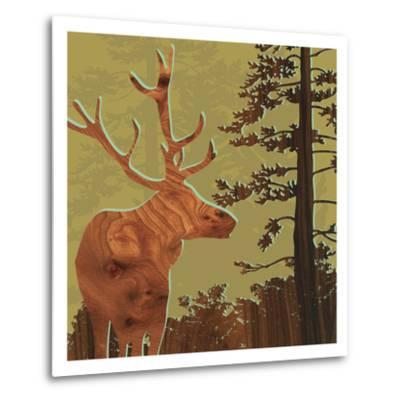 Deer 2-jefdesigns-Metal Print