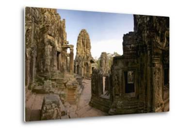 Ornate Bas Relief on the 12th Century Buddhist Pyramid Temple, Bayon-Jim Ricardson-Metal Print