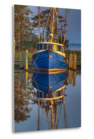 Shrimp Boat Docked at Harbor, Apalachicola, Florida, USA-Joanne Wells-Metal Print