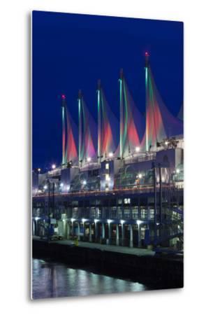 Dawn, Canada Place, Vancouver, British Columbia, Canada-Walter Bibikow-Metal Print