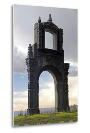 Monument at Mirador Killi Killi in La Paz, Bolivia-Kymri Wilt-Metal Print