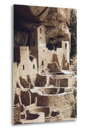 The Cliff Palace at the Mesa Verde Was Inhabited in the 12-13th Centuries--Metal Print