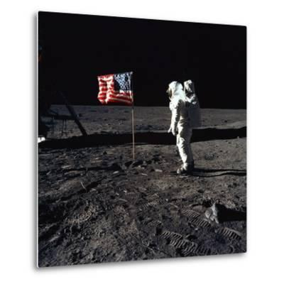 Apollo 11 Astronaut Buzz Aldrin During the First Lunar Landing, July 20, 1969--Metal Print