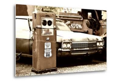 Route 66 - Gas Station - Arizona - United States-Philippe Hugonnard-Metal Print