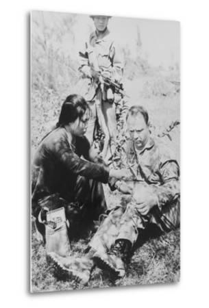 US Air Force Pilot Is Given First Aid by North Vietnam Captors in Jan. 1966--Metal Print