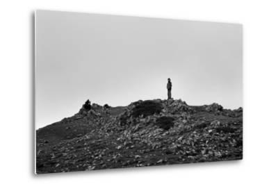 A Boy Looks Into Spain Near Pierre St Martin, France-Stephen Alvarez-Metal Print