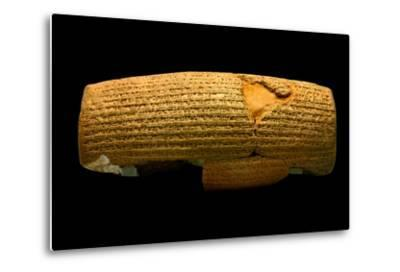 The Cyrus Cylinder, 6th Century BC, the First Declaration of Human Rights-Babak Tafreshi-Metal Print