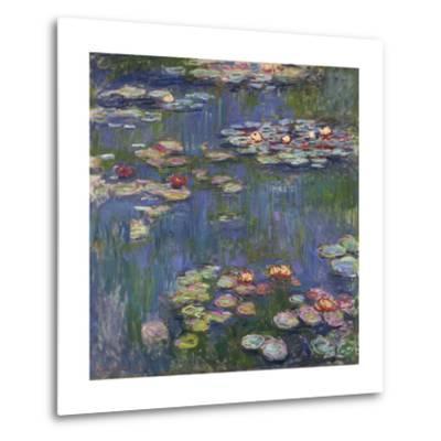 Water Lilies (Nymphéas), c.1916-Claude Monet-Metal Print