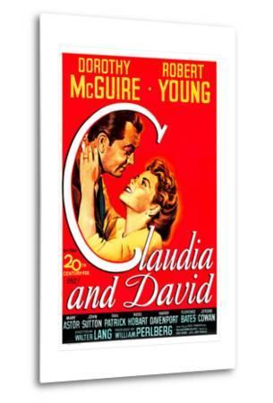 Claudia And David--Metal Print