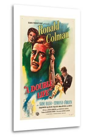 A Double Life, Signe Hasso, Ronald Colman, Shelley Winters, 1947--Metal Print